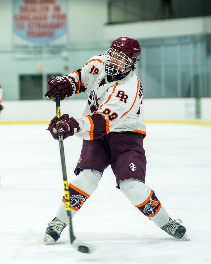 Brother Rice vs Mt. Carmel Hockey Images